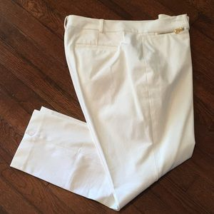 Lauren Ralph Lauren White Ankle Cropped Pants